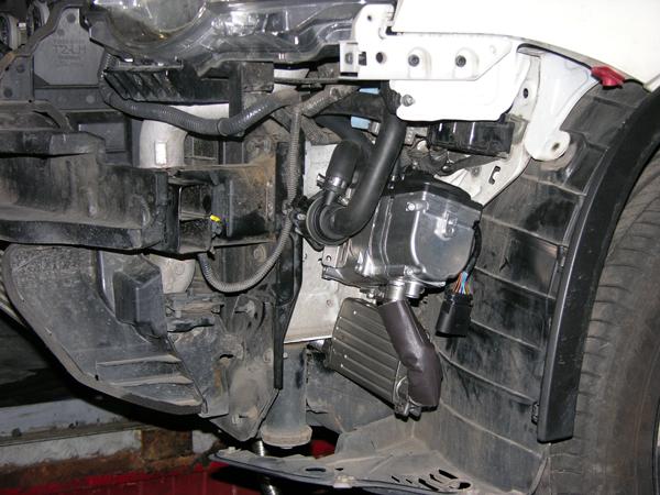 Установка жидкостного автономного отопителя Eberspacher D4S на Nissan X-trail