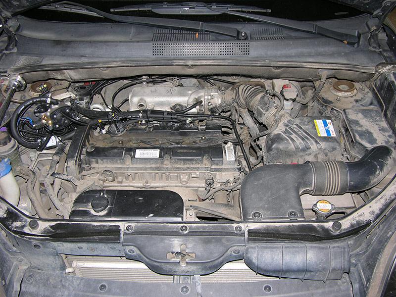 Установка ГБО на Hyundai Tucson 2,0