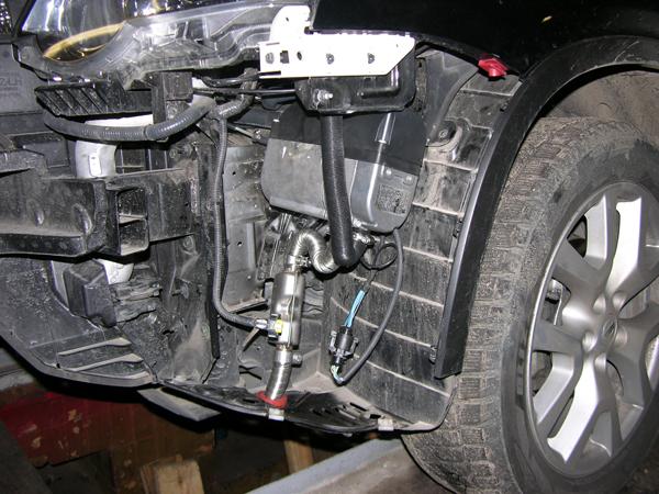 Установка жидкостного автономного отопителя Eberspacher D4 WSC на Nissan X-trail